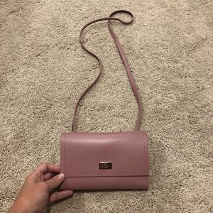 Lilac Kate Spade Wallet on Chain